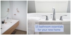 cover photo for pretty simple thing bathroom essentials post