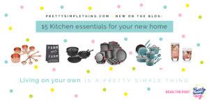 pretty simple thingkitchen essentials checklist feature image